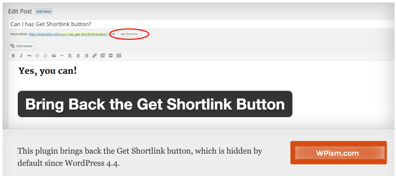 Bring Back the Get Shortlink Button