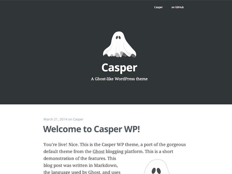 Casper By gojukebox WordPress Medium Theme