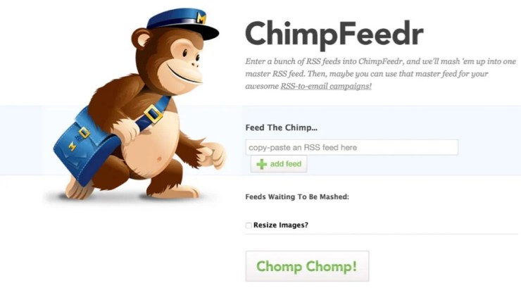 ChimpFeedr Combining Multiple RSS Feeds
