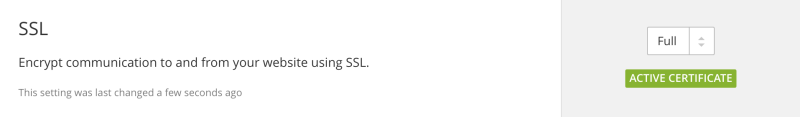 Cloudflare Free Shared SSL