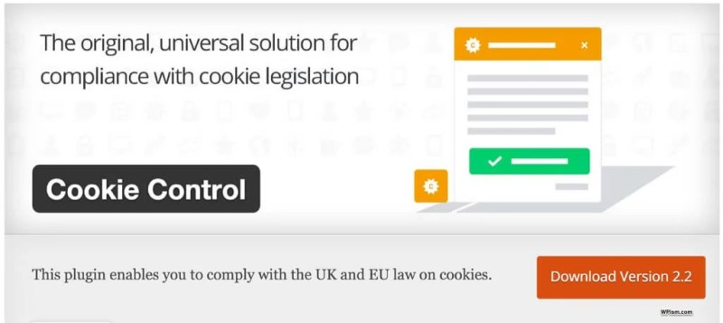 Cookie Control WordPress Plugin