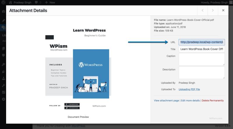 Copy PDF Download URL