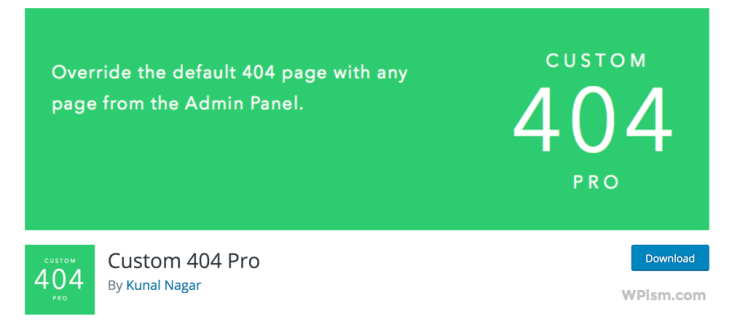 Custom 404 Pro WordPress 404 Plugin