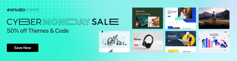 Cyber Monday Sale Envato 20