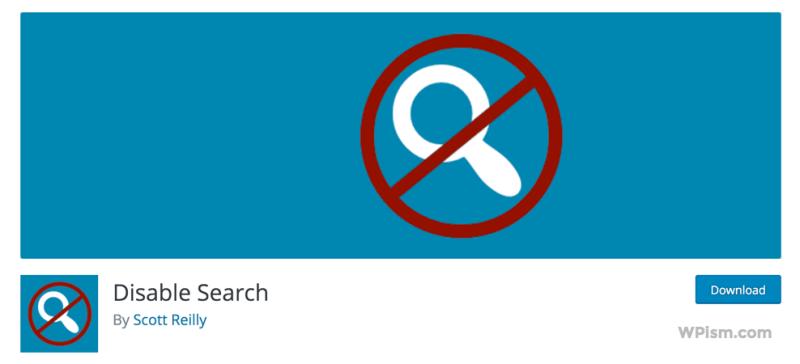 Disable Search WordPress Plugin Download