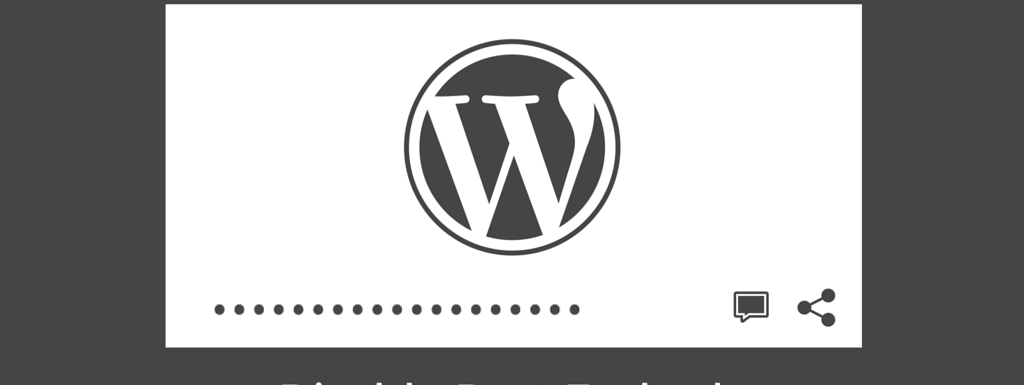 Disable WordPress Embeds oembed
