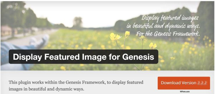 Display Featured Image for Genesis WordPress Plugin