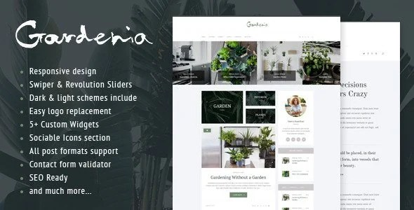 Gardenia WordPress Personal Blog Theme