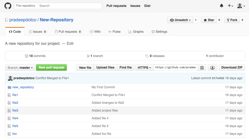 GitHub Repository Published Command Line