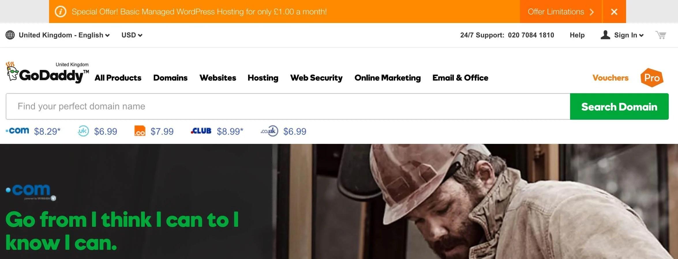 Godaddy Managed WordPress Hosting Sale
