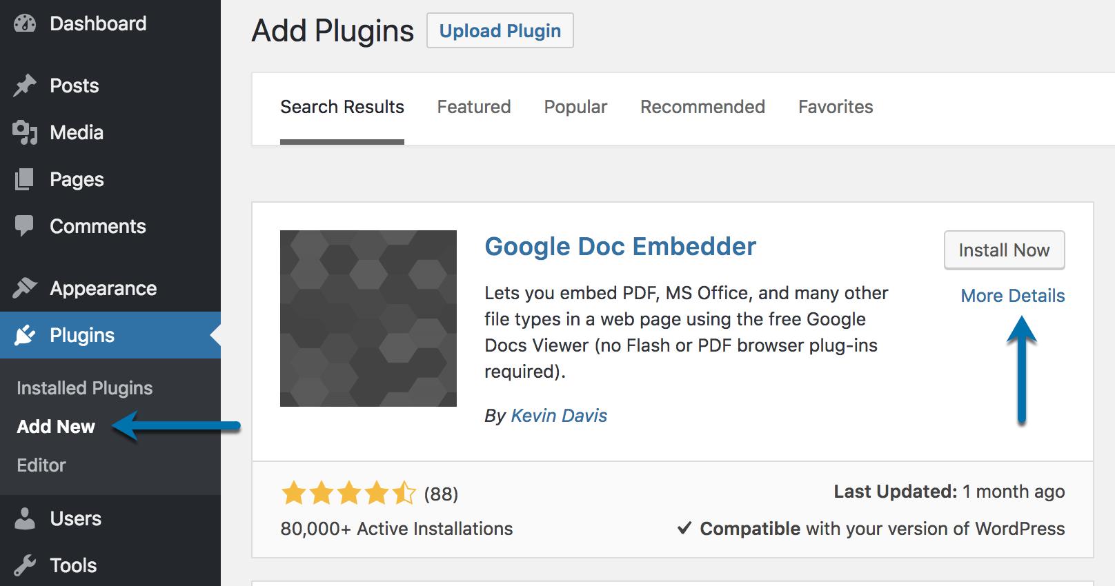 Google Doc Embedder Plugin Download Install