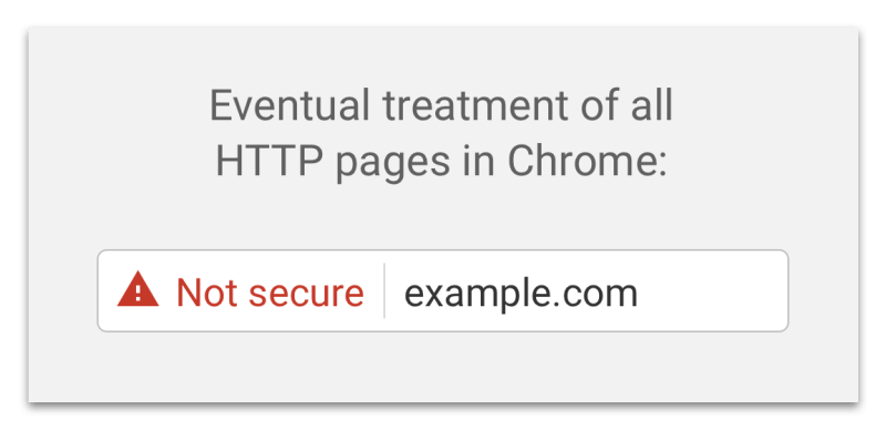HTTP pages as Not secure in Chrome Browser