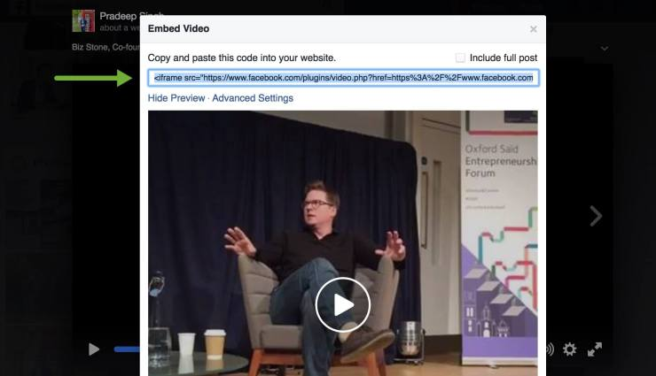 Iframe Code for Embed Facebook Live videos