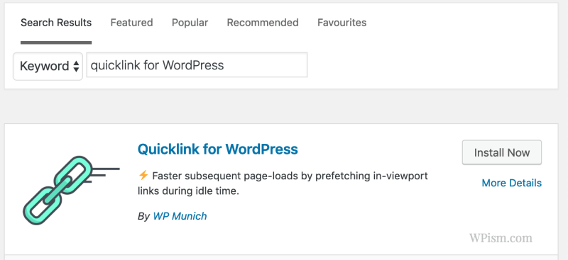 Install Quicklinks WordPress Plugin from directory