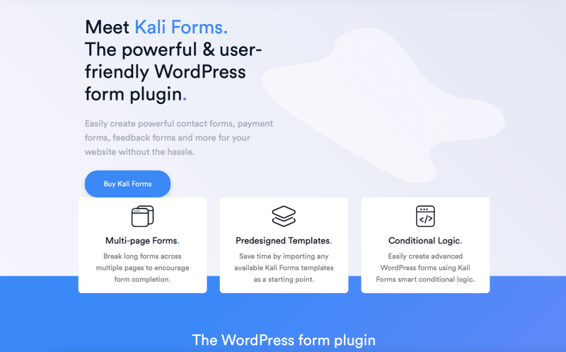 Kali Forms plugin overview review