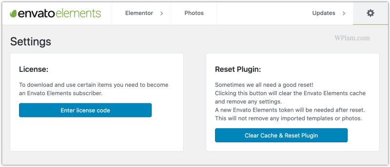 Licence Code Envato Elements Plugin