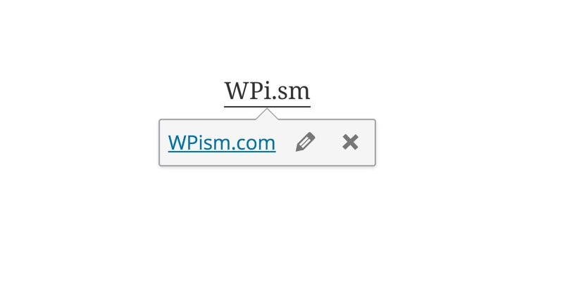Links Toolbar in WordPress 4.3