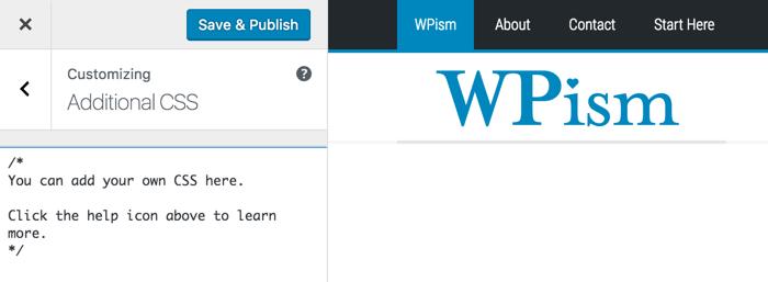 Live Custom CSS WordPress