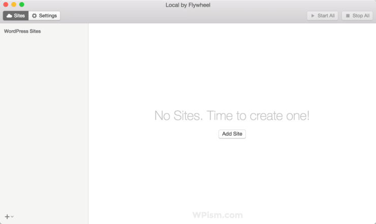 Local by Flywheel WordPress Tool Create First Site