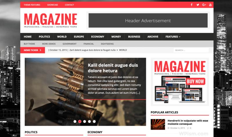 MH Magazine WordPress Theme for Adsense Theme