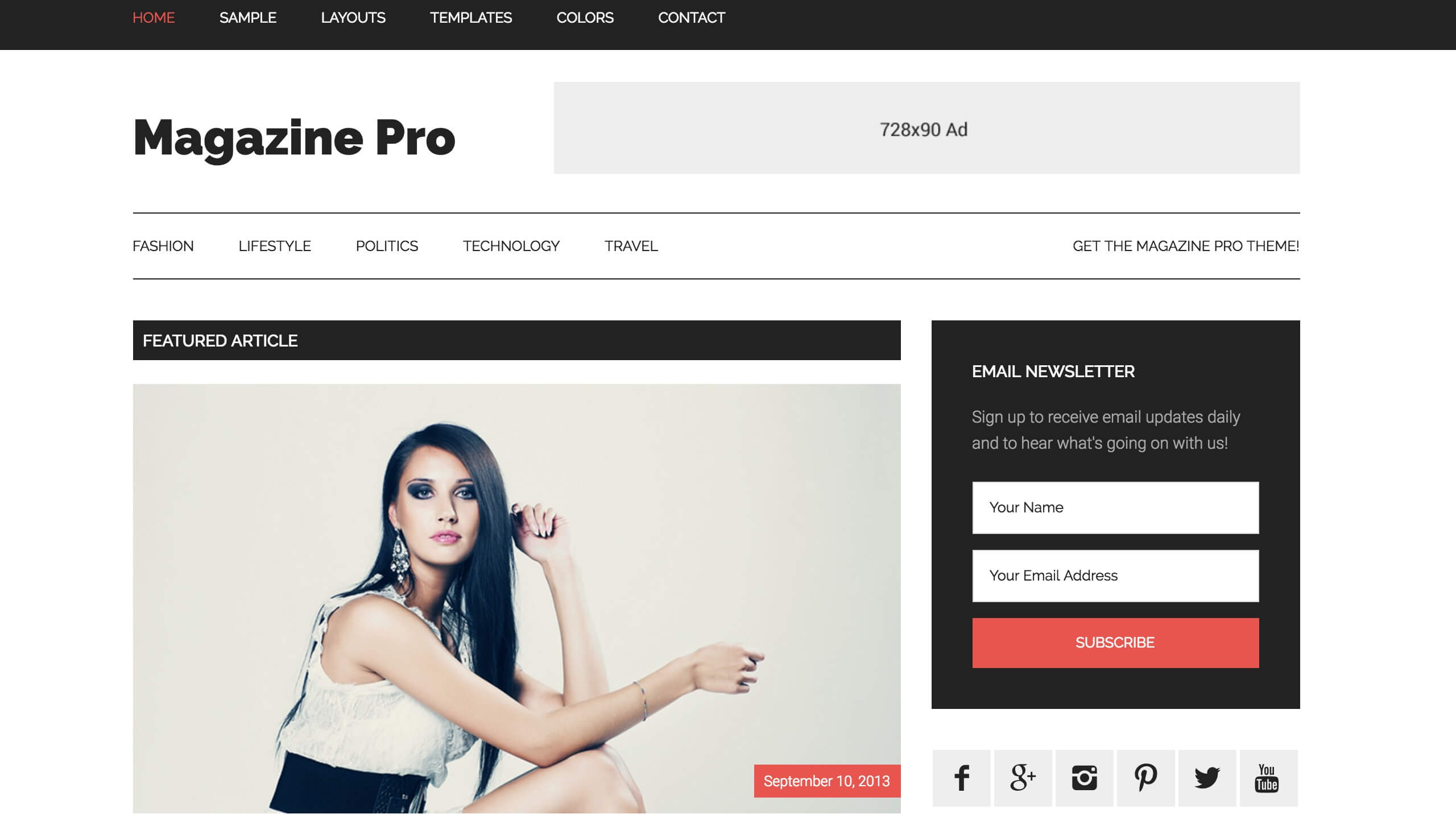 Magazine Pro Adsense WordPress theme