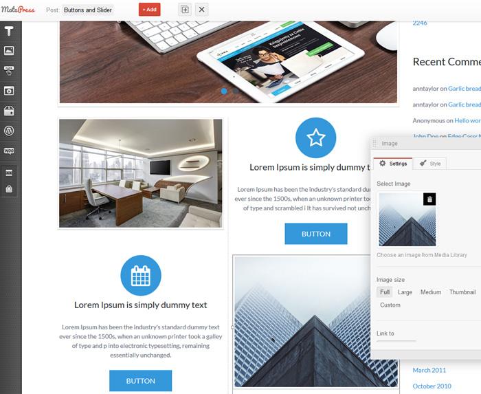 Multipurpose features blocks MotoPress Page builder