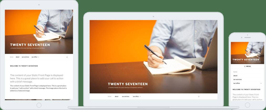 New Twenty Seventeen WordPress Theme 2017
