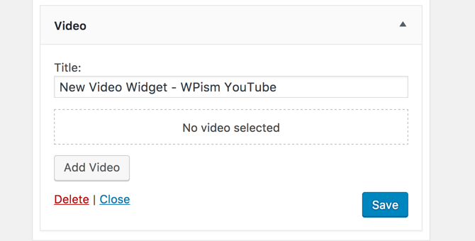 New Video Widget WPism YouTube