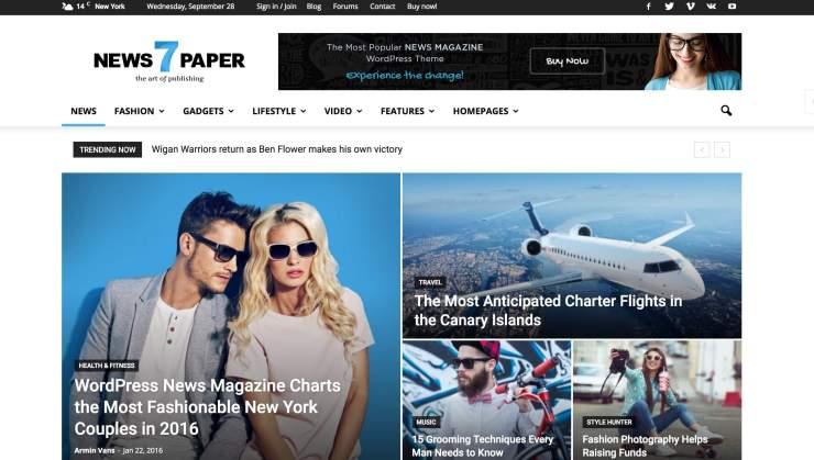 Newspaper WordPress Theme Tagdiv Themeforest