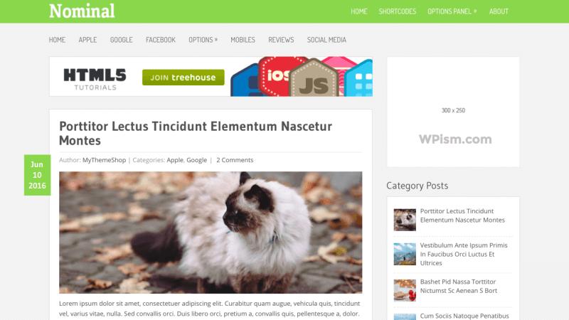 Nominal Adsense Optimized WordPress Themes - MyThemeShop