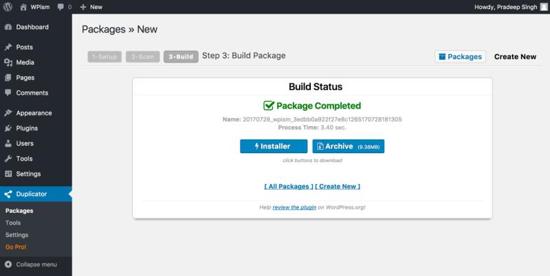 Package Build Complete Duplicator Plugin Download