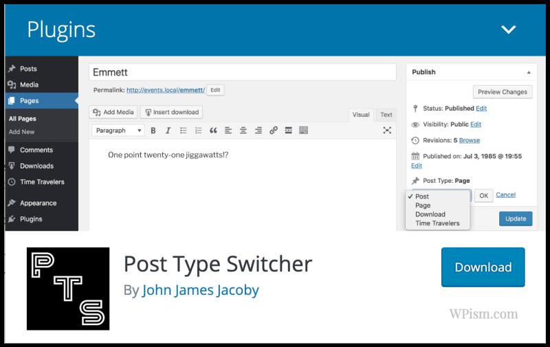 Post Type Switcher Plugin Download WordPress