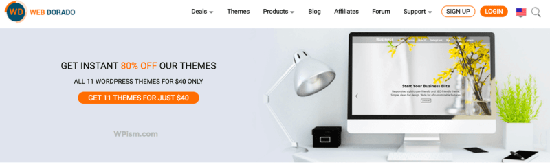 Premium WordPress themes bundle Coupon Web Dorado