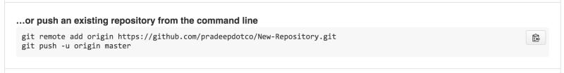 Push repository using command line