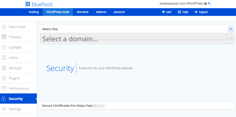 Security and SSL Settings WordPress