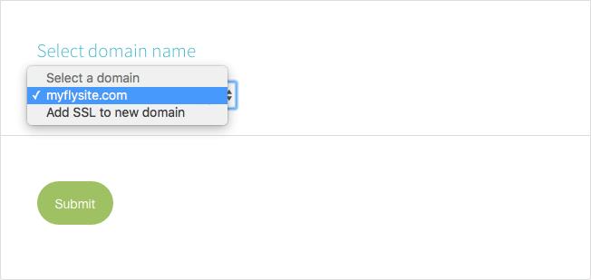 Select Domain Name for SSL Free Flywheel