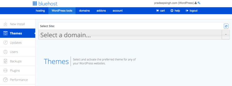 Select and Activate WordPress Themes from WordPress Tools