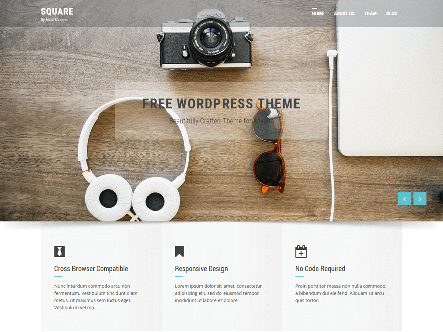 Square By hash themes WordPress Theme