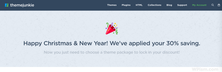 Theme junkie new year 2017 Discount deal