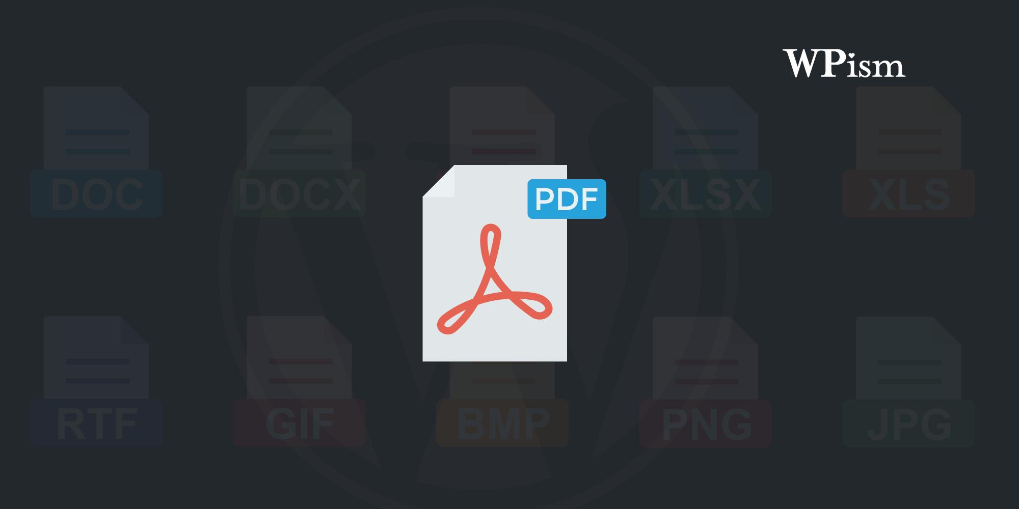 Wordpress Plugin To Pdf File