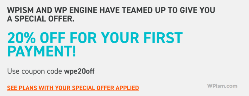 WP Engine and WPism Coupon Code