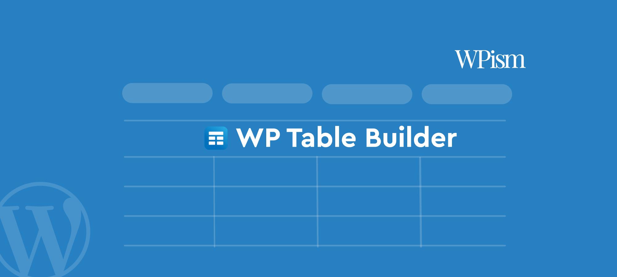 WP Table Builder Review WordPress Table Plugin
