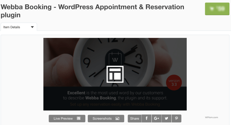 Webba Booking WordPress Appointment Reservation plugin