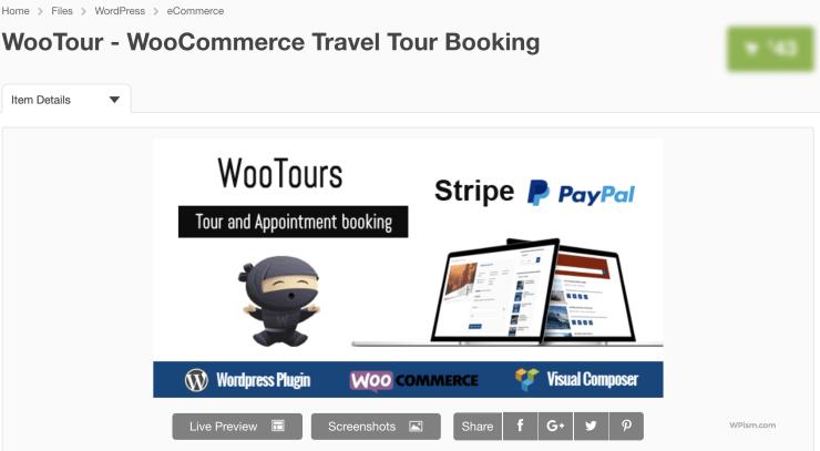 WooTour - WooCommerce Travel Tour Booking plugin