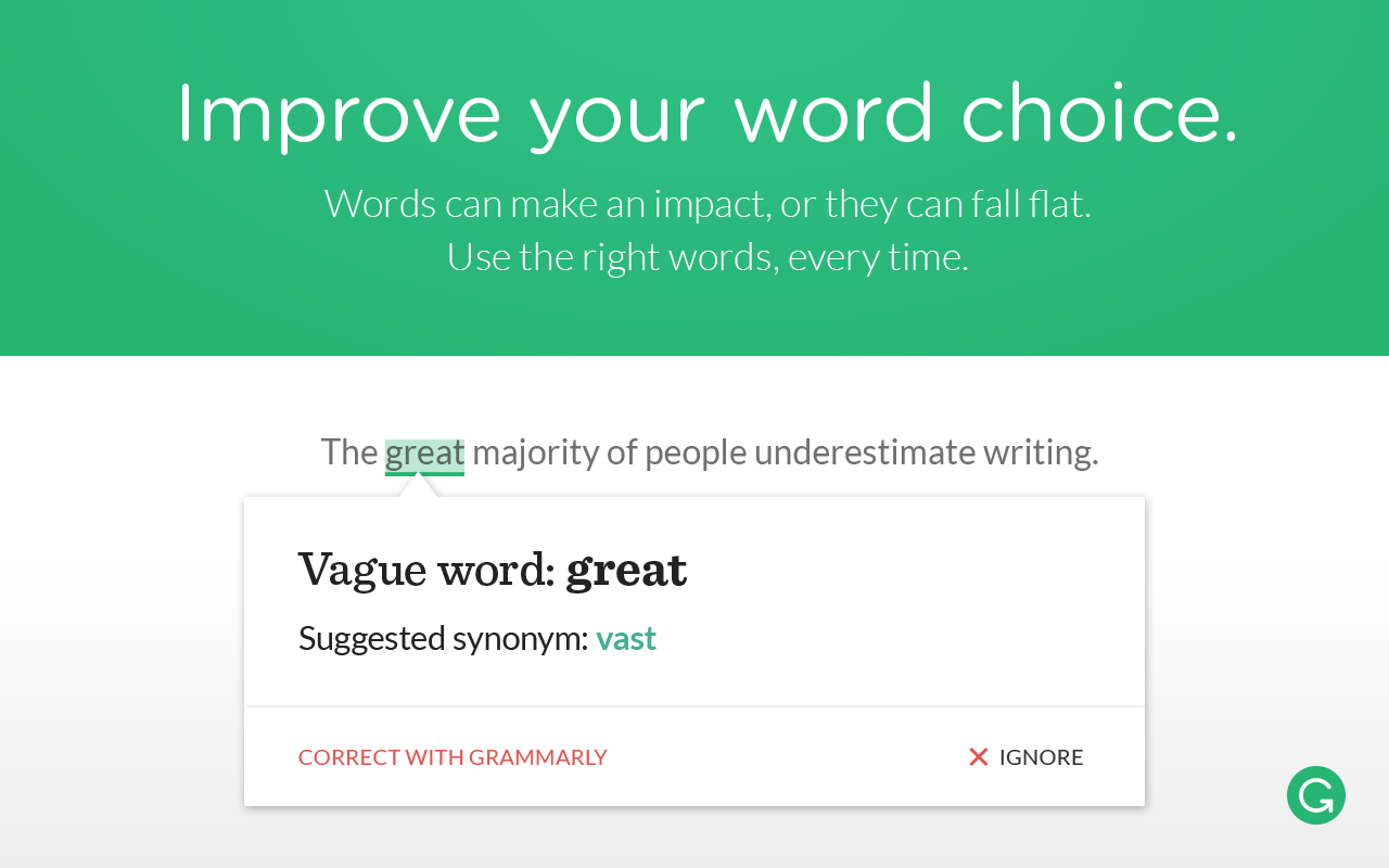 Word Choice Grammarly Online Grammar Tool