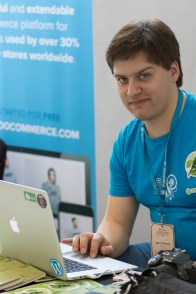 Igor Zinovyev presenting Jetpack at WordCamp London 2016-4162