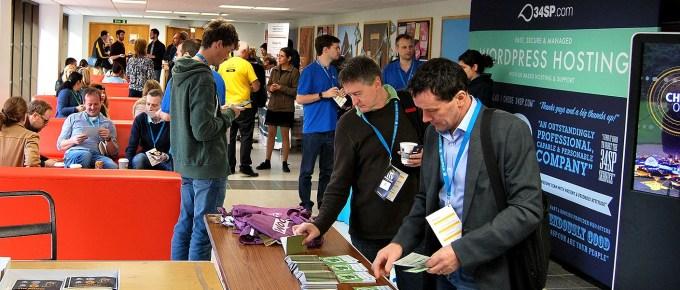 WordCamp attendees mix in-between talks WordCamp belfast