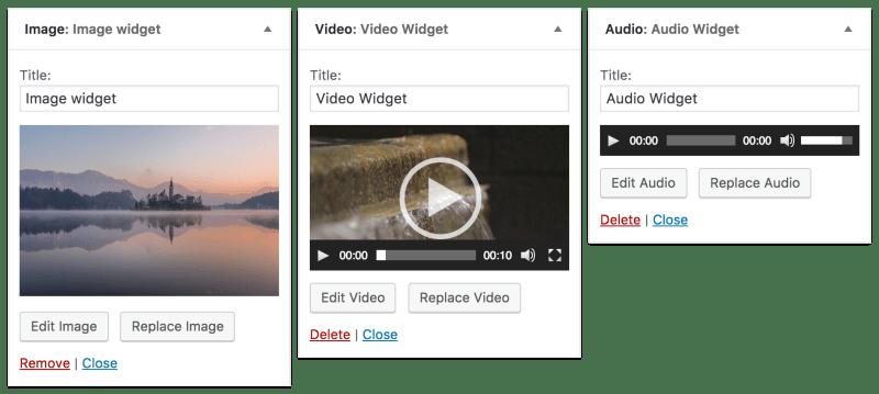 WordPress 4.8 media widgets