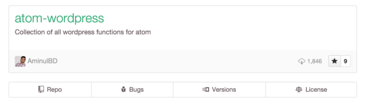 WordPress Atom Functions Support Package
