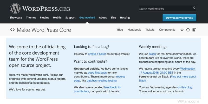 WordPress Core Official Blog